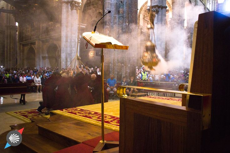 The Botafumeiro ritual #CaminodeSantiago #Cathedral photo made by Katarzyna Kędzierska