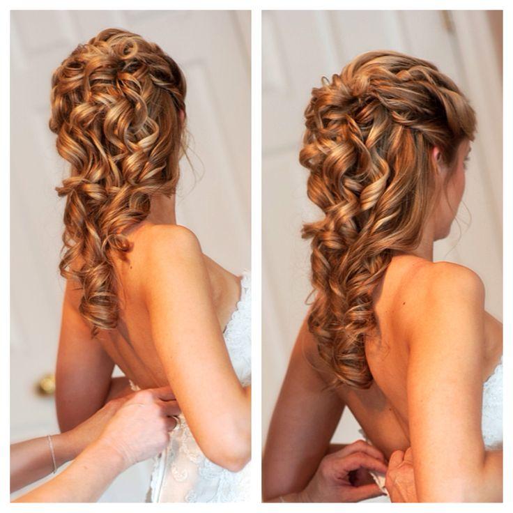 Beautiful wedding hair, half up do