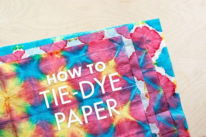 DIY: Tie-Dye Paper #craft #tiedye #tissue  http://adventures-in-making.com/diy-tie-dye-tissue-paper/