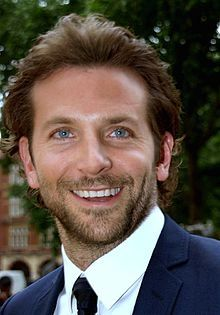 A photograph of Bradley Cooper attending the premiere of his film, The Hangover…
