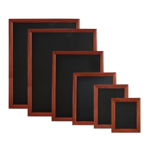Wandtafel mit Holzrahmen Malakka  Wandtafel-Klickhalterung aus Holz, dank der doppelten Lack- bzw. Schutzschicht für innen und außen geeignet. Wandtafel kann mit Hilfe der beigefügten Ösen aufgehängt werden. Stifte sind in verschiedenen Farben bei uns erhältlich.  http://ntomail.de