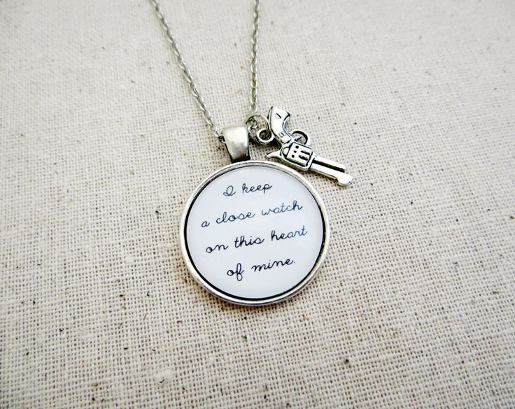 Johnny Cash I Walk The Line Inspired Lyric Quote Pendant Necklace with Gun Charm
