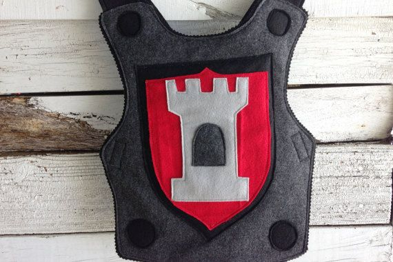 Knight Body Armor Felt Breastplate RED and by TheTreeHouseKid