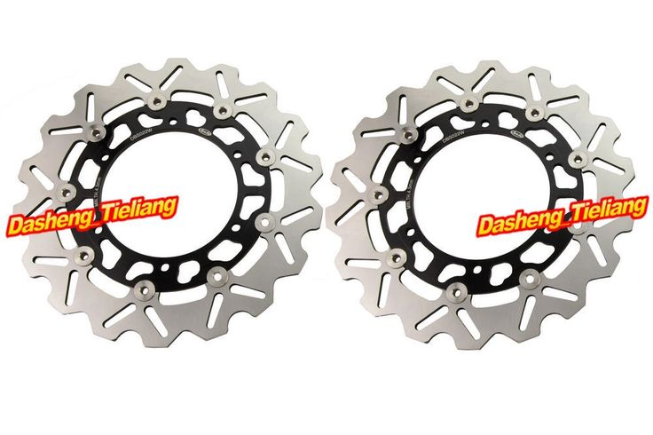 170.05$ Watch now - http://alicep.worldwells.pw/go.php?t=1865146276 - Motorcycle Front Brake Disc Rotors Pats For Yamaha FJR 1300 2001-2003 FJR1300 & XJR1300 1999-2001, Motorbike Accessories, Black