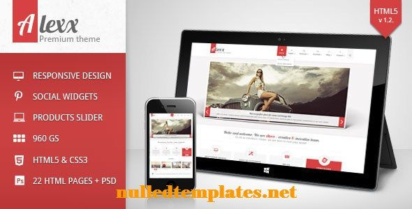 Alexx Multipurpose HTML5 Theme - http://nulledtemplates.net/?p=1600  Alexx Multipurpose HTML5 Theme    Version v-1-2   Author pixel-industry   Distributor / Market themeforest   High Resolution no   Widget Ready    Compatible Browsers IE8, IE9, Firefox, Safari, Opera, Chrome   Compatible With    Software Version    Columns 4+   Layout Responsive   Tags 960gs, alex, business, clean, creative, dribbble, menu icon, multiple, picassa, portfolio, social, vimeo   Ad