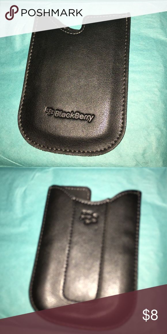 Authentic Blackberry Pouch Never Used. Excellent Condition. Blackberry Accessories Phone Cases
