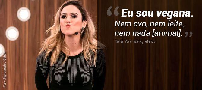 Tatá Werneck diz no programa Tamanho Família, da Rede Globo, que é vegana pelos animais | Vista-se