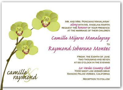 orchid wedding invitations | Paper Crew: The Cymbidium Orchid Wedding Invitation Set