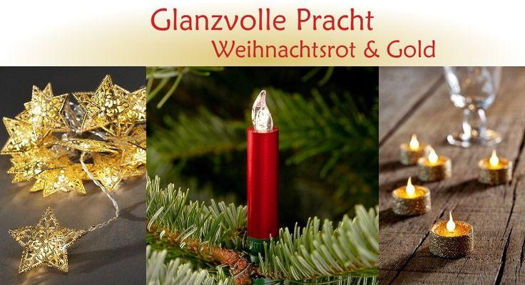 Weihnachtsbeleuchtung Trend: Glanzvolle Pracht - Weihnachtsrot & Gold