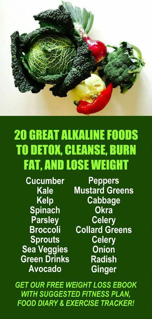20 Great Alkaline Foods To Detox Cleanse Burn Fat And Lose Weight