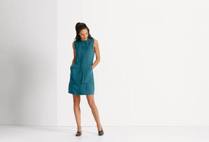Flaxible Sleeveless Dress sustainable fabric