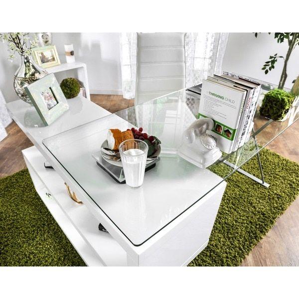 Furniture of America Marisa Contemporary High Gloss Convertible Executive Desk