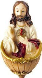 Sacred Heart of Jesus Holy Water Font.