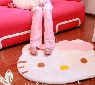 Lovely Big Head Hello Kitty Fuzzy Floor Cushion Mat Pad Bedroom Decoration Footcloth Rug 1 PC White (519165956522) With functions of water absorption, vacuuming and warm Suitable for living room, porch and kitchen, bathroom, bedroom, balcony and corridors, etc.Sweet feeling begins with feet Non-toxic, tasteless, not deformation, not sticky, not moldy, has strong ability to stop slippery effect and air permeability For your sweet home inject new aura