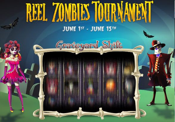 Bingo Hall and Internet Bingo Sites invite you to play From June 1st to Jun 15th the Exclusive Reel Zombies Tournament... Join Bingo Hall and get $60 free Bonus + EntryTiket!! Using Code: REELZOMBIES
