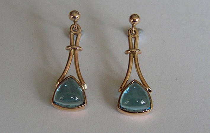 Makers Lane :: Topaz Drop Earrings Custom Made, Bespoke jewellery  made in Australia.