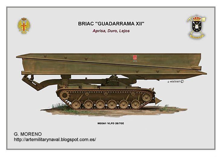 #vehiculos #militares tipo lanzapuentes M-60 #tank