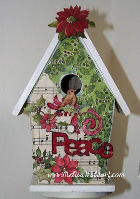 83 best CHRISTMAS - BIRDHOUSE images on Pinterest | Bird houses ...