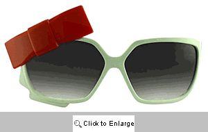 Dita Bow Sunglasses - 366 White/Red