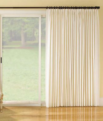 Insulated Weaver S Cloth Pinch Pleat Slider Panel For