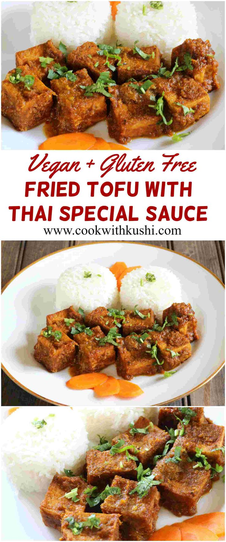 Fried Tofu With Thai Special Sauce is a spicy and delicious, flavorful dish that can be served with steamed rice for lunch or dinner. The recipe is vegan and gluten free. #vegan #glutenfree #lunch #dinner #snack #appetizer #spicy #thai #tofu #paneer #bhgfood #Buzzfeedfood #feedfeed