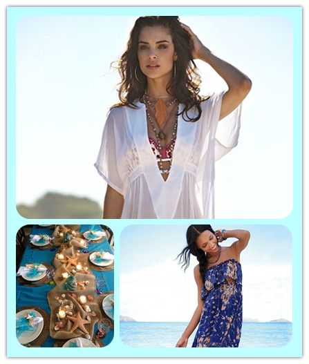 What to Wear to the Beach Party—-Beach Outfit  DIY Ideas  #ombrehairstyles #loosewaves