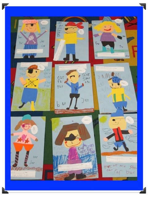 Talk like a pirate activity! Step by step illustrations for creation of a pirate from paper