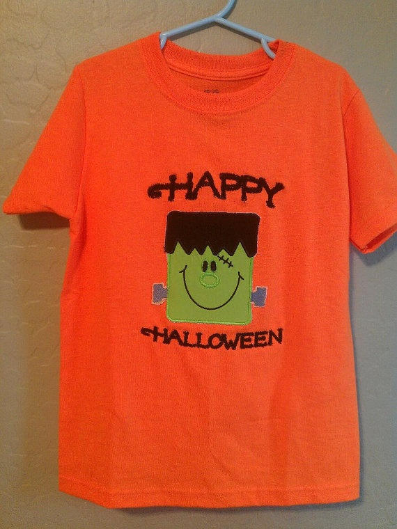 Halloween Tshirts with  monogrammed name by StitchingByAlicia, $12.50