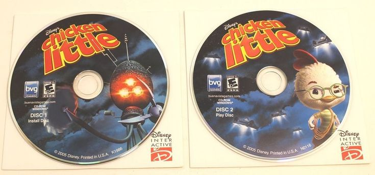 Disney's Chicken Little 2 Disk Set PC Game Disk And Sleeve By BVG #Disney
