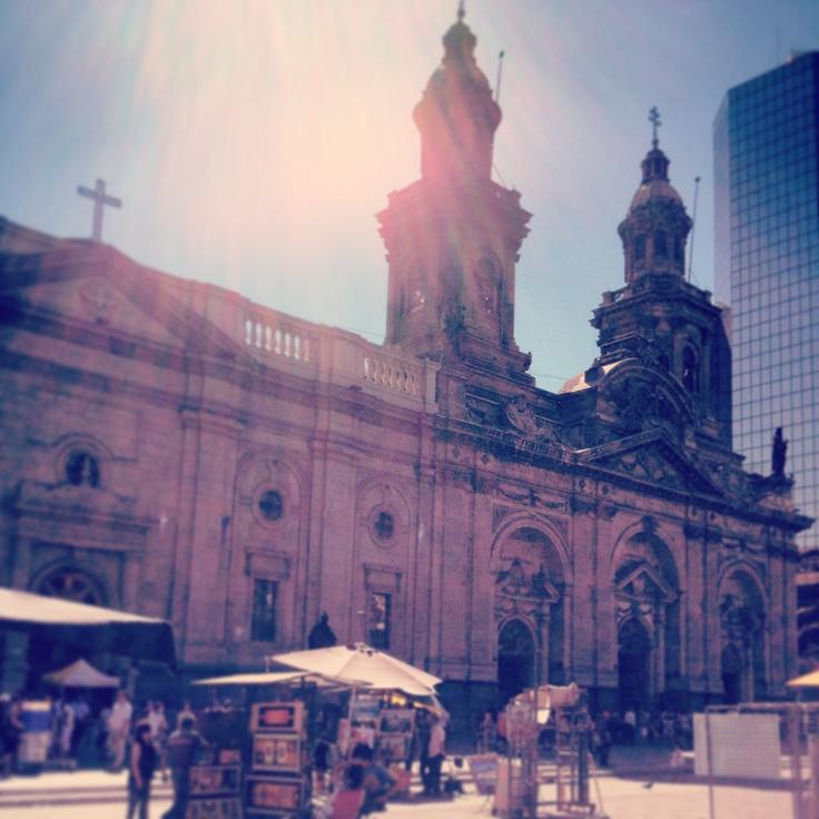 Catedral de Santiago, Plaza de Armas, Chile