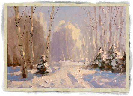 нарисовать снег