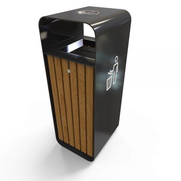 Hanko X Poubelle De Recyclage Exterieur En Metal Bois Cendrier En Option Poubelle Exterieur Poubelle Recyclage Poubelle