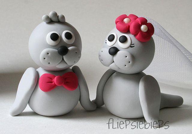 Seal Wedding Cake Topper by fliepsiebieps1, via Flickr