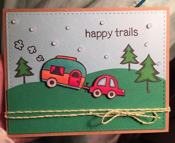 Farewell Greeting Card Handmade  Happy by skalkosgettingcrafty