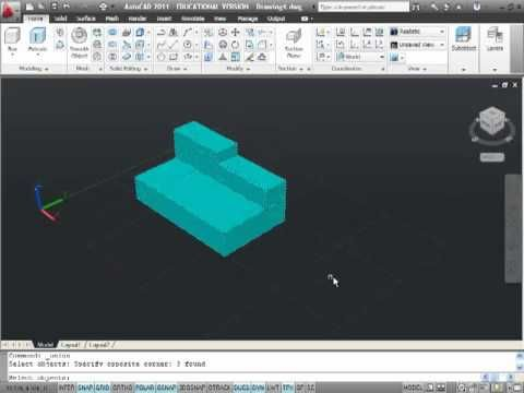 11 best autocad tutorials images on pinterest 3ds max intro to 3d solid modeling in autocad 2011 solid extrude subtrate fandeluxe Gallery