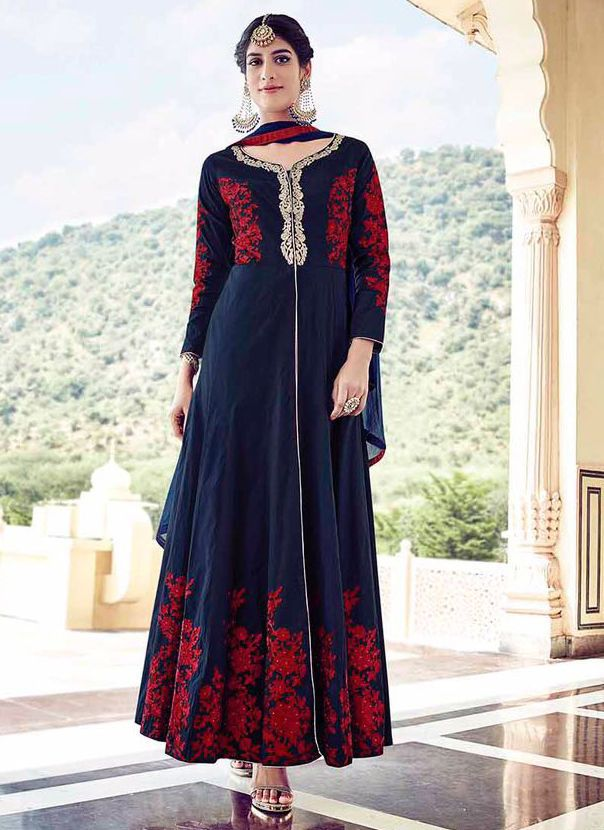 Anarkali salwar kameez wedding front open pakistani designer party wear dress #Handmade #salwarkameez