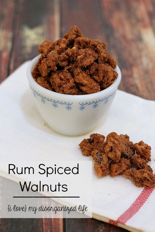 ... rum coating, these Rum Spiced Walnuts make a perfect treat or homemade