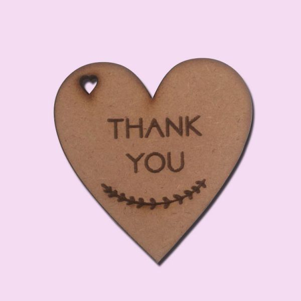 Wooden thank you hearts
