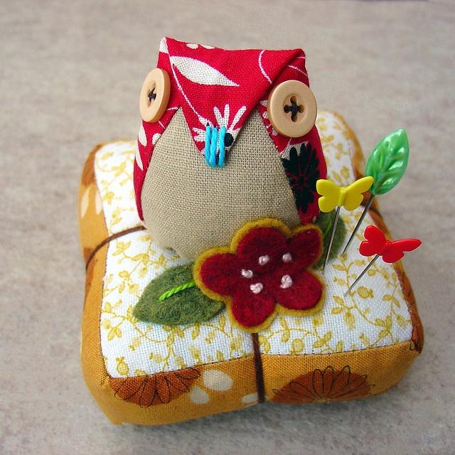 Owl Pin Cushion Owls Pinterest