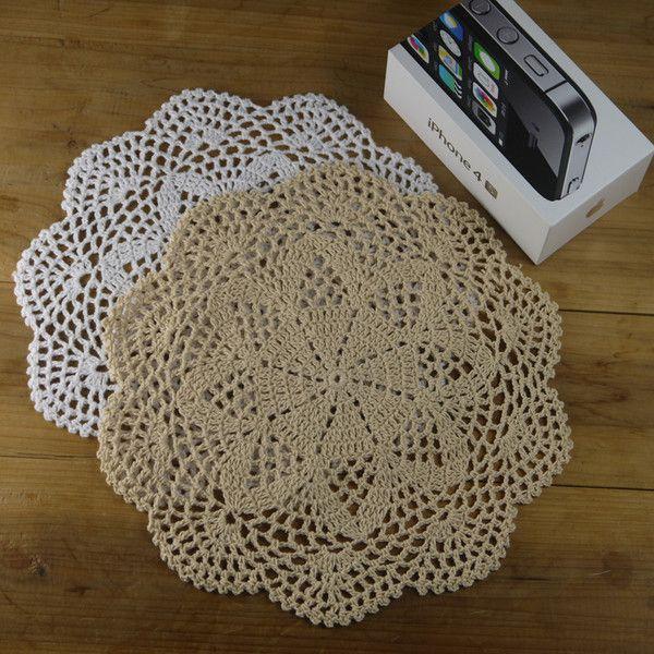 "10PCS Crocheted Doilies Mat Pad Coasters 28CM/11"" de crochet  sur DaWanda.com"