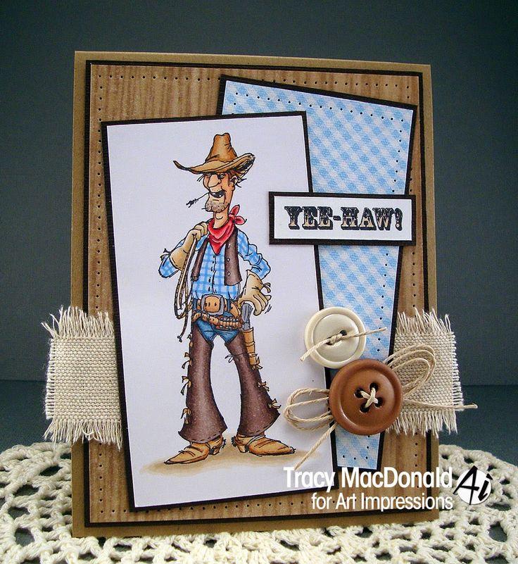 Slim (Sku#K1686) from Art Impressions.  Ai Golden Oldies.  Handmade cowboy western card.