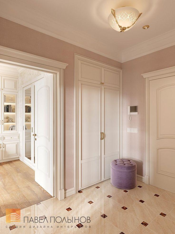 Фото дизайн холла из проекта «Дизайн однокомнатной квартиры 48 кв.м. в классическом стиле, ЖК «Жемчужный фрегат» »