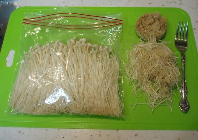 How to Brush-Clean and Freeze Enoki Mushrooms Recipe -  Very Delicious. You must try this recipe!