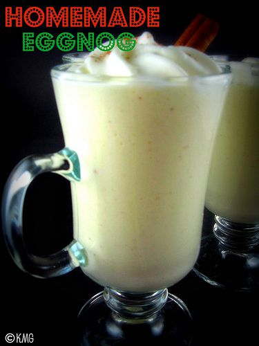 Homemade Eggnog Recipe - with alcohol or without