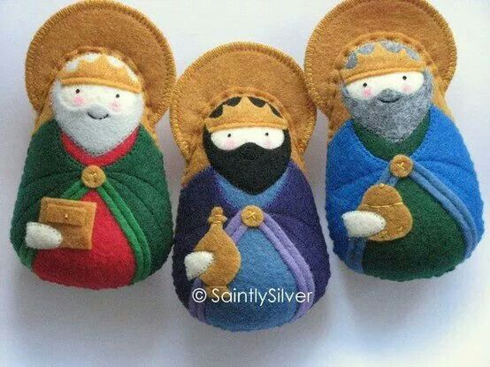3 wise men felt