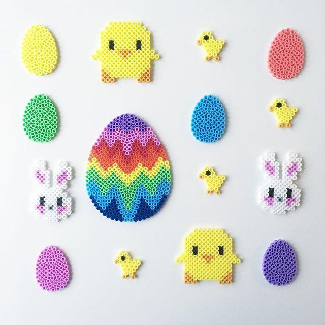 Easter hama beads by pysselkompisarna