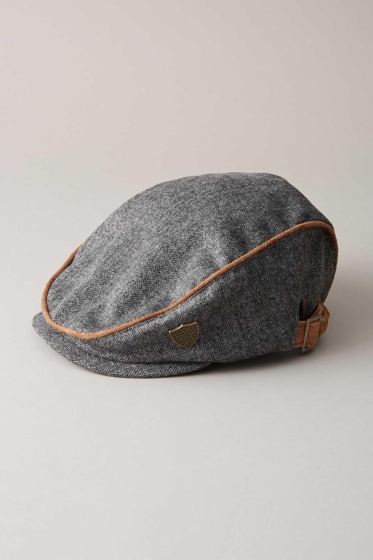 Chasing Fireflies - Boys  Herringbone Flannel Cap  Add at the last second for an instant winter pop