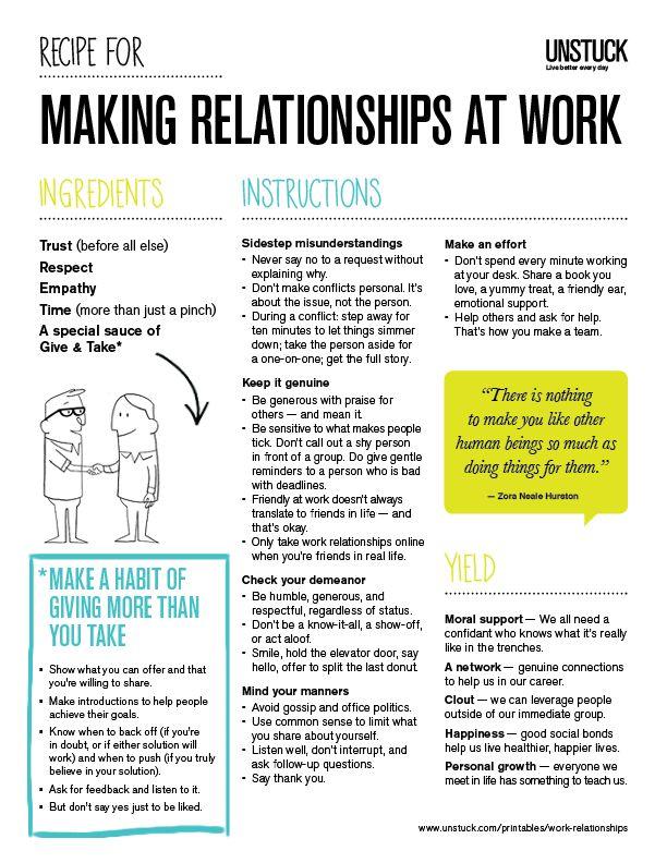 Building Relationships at Work