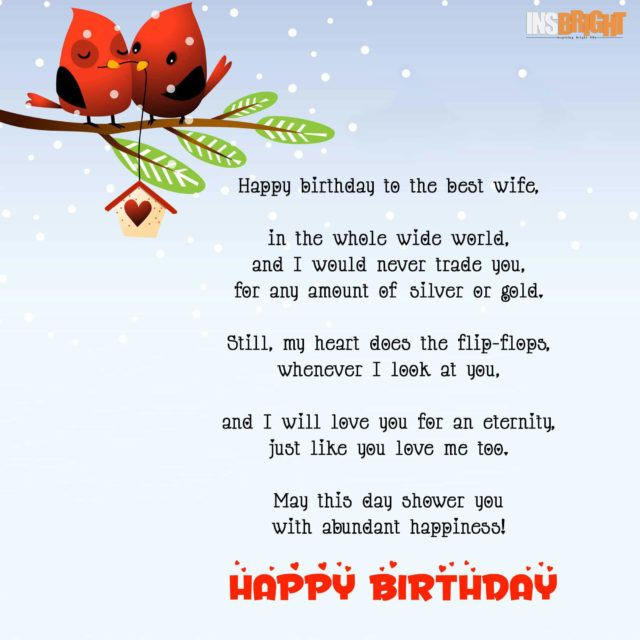 Happy Birthday Poems For Him Cute Poetry For Boyfriend Or: Romantic Happy Birthday Poems For Wife With Love From