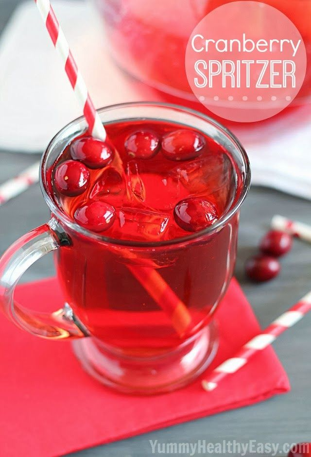 Cranberry Spritzer Drink | The easiest cranberry drink that is perfect for a holiday party